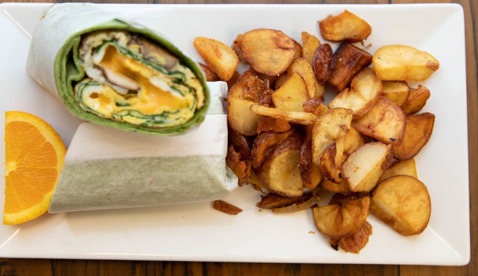 Breakfast Wraps at Sugar and Spice Cafe